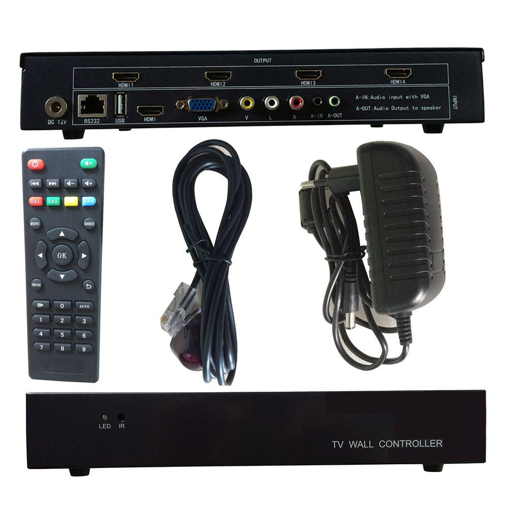 Video Wall Controller 2X2 2X1 1X2 1X4 4X1 1X3 3X1 USB/HDMI