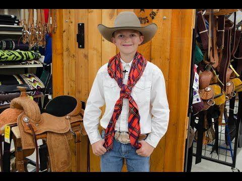 How To Tie A Wild Rag Video Step By Step Buckaroo Knot Buckaroo Western Scarf Western Wear