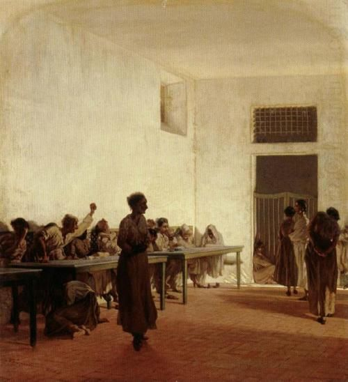 Department for Violent Female Mental Patients at San Bonifacio in Florence  1865  Telemaco Signorini