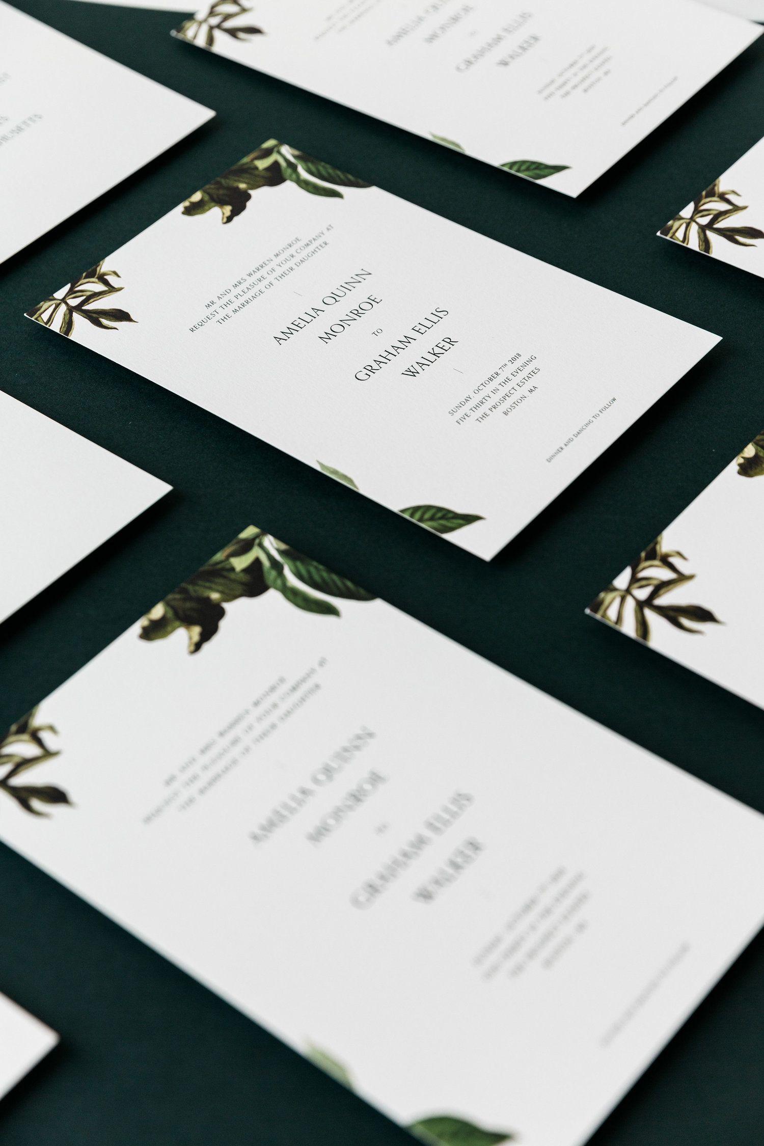 Modern Wedding Stationery - M. Poste | Invite Guests | Pinterest ...
