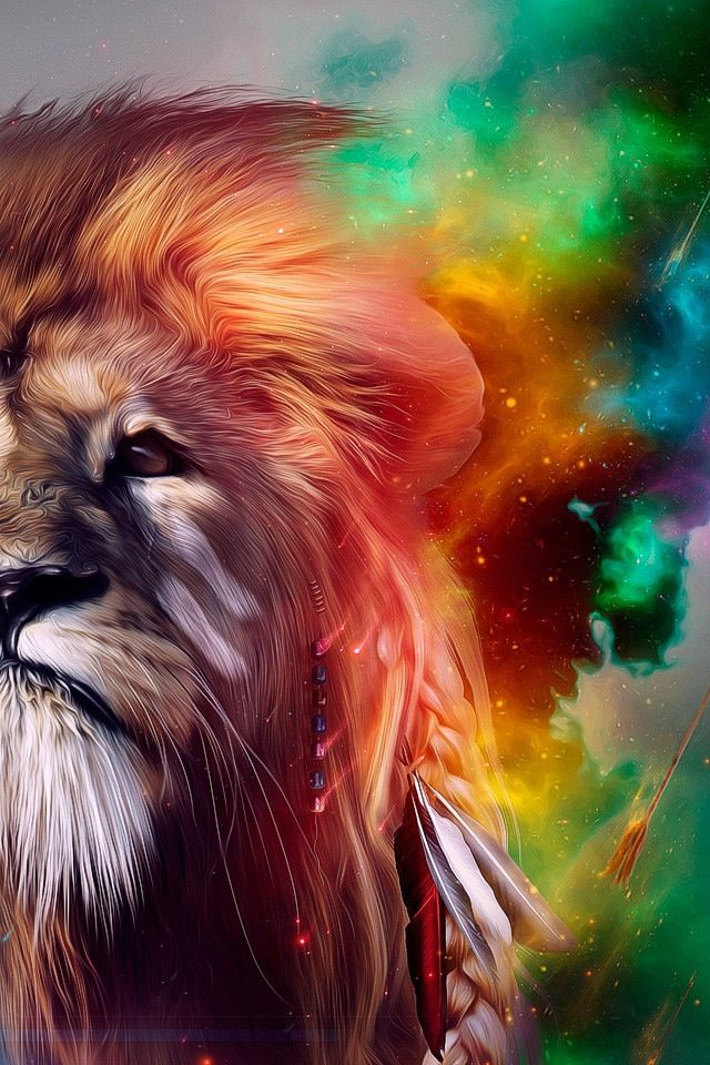 Astrospirit Leo ♌ Fire Lion Psychedelic Leo