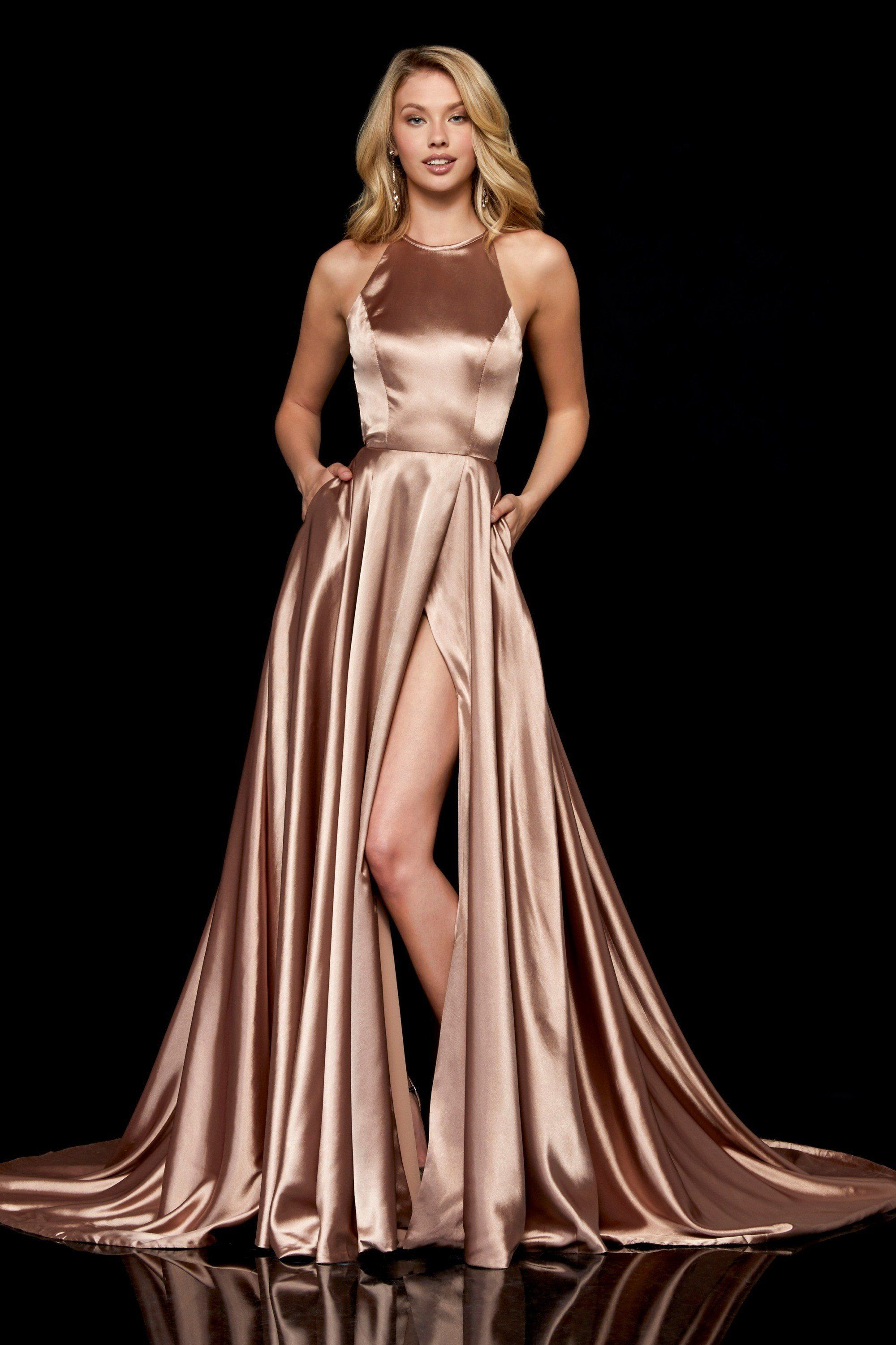 Sherri Hill - 52120 Halter Neck A-line Dress With