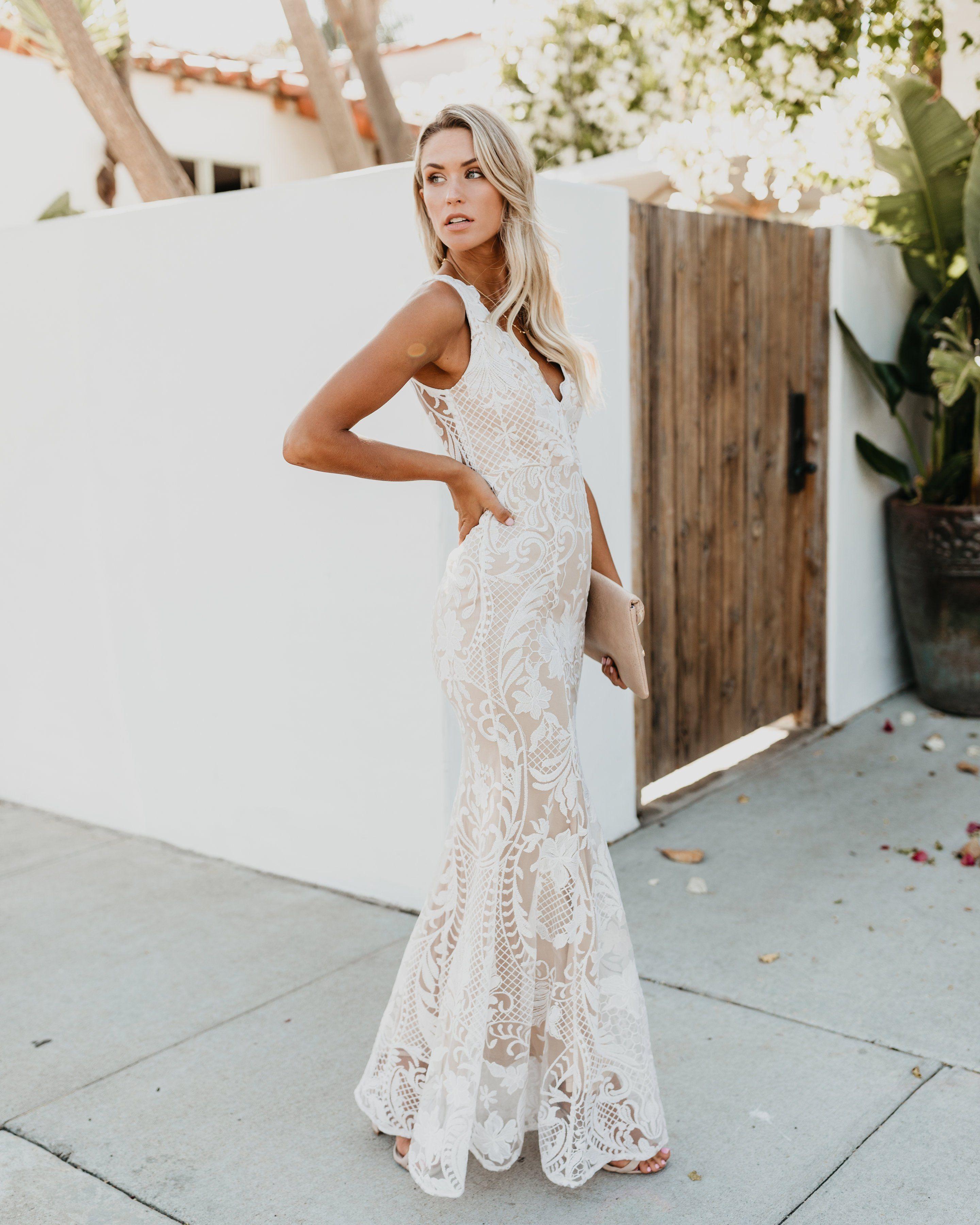 4e76111a5ca Beauty Never Fades Lace Maxi Dress - White | Bardot the Mistress in ...
