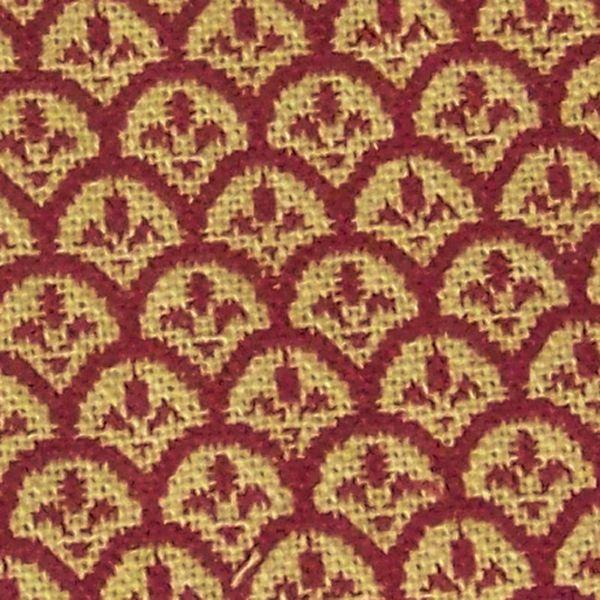 Dunroven House: Fleur de Lis-red