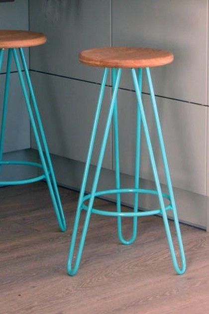Hairpin Leg Bar Stool Choice Of Colours Available View All Furniture Moveis De Demolicao Moveis De Madeira Decoracao De Ferro