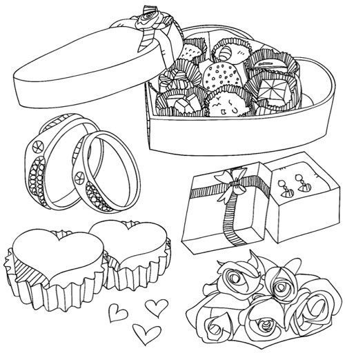 valentines day gifts coloring pages for adults also see