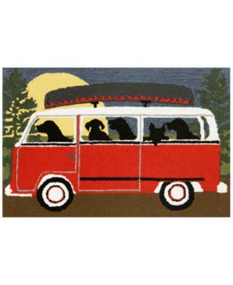 Liora Manne Front Porch Indoor/Outdoor Camping Trip Red Area Rug | macys.com