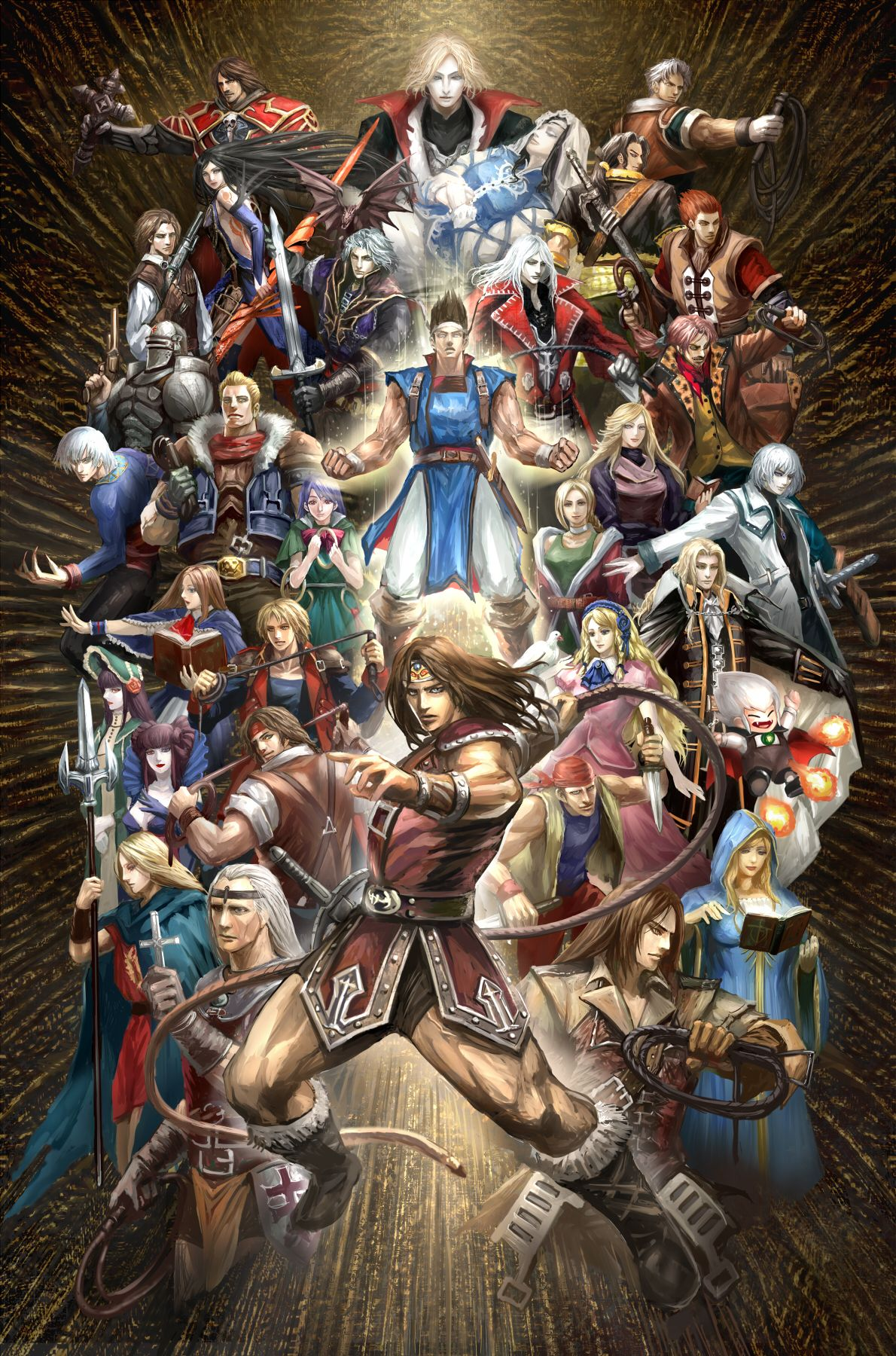 All the awesome Castlevania characters in one piece of fan ...