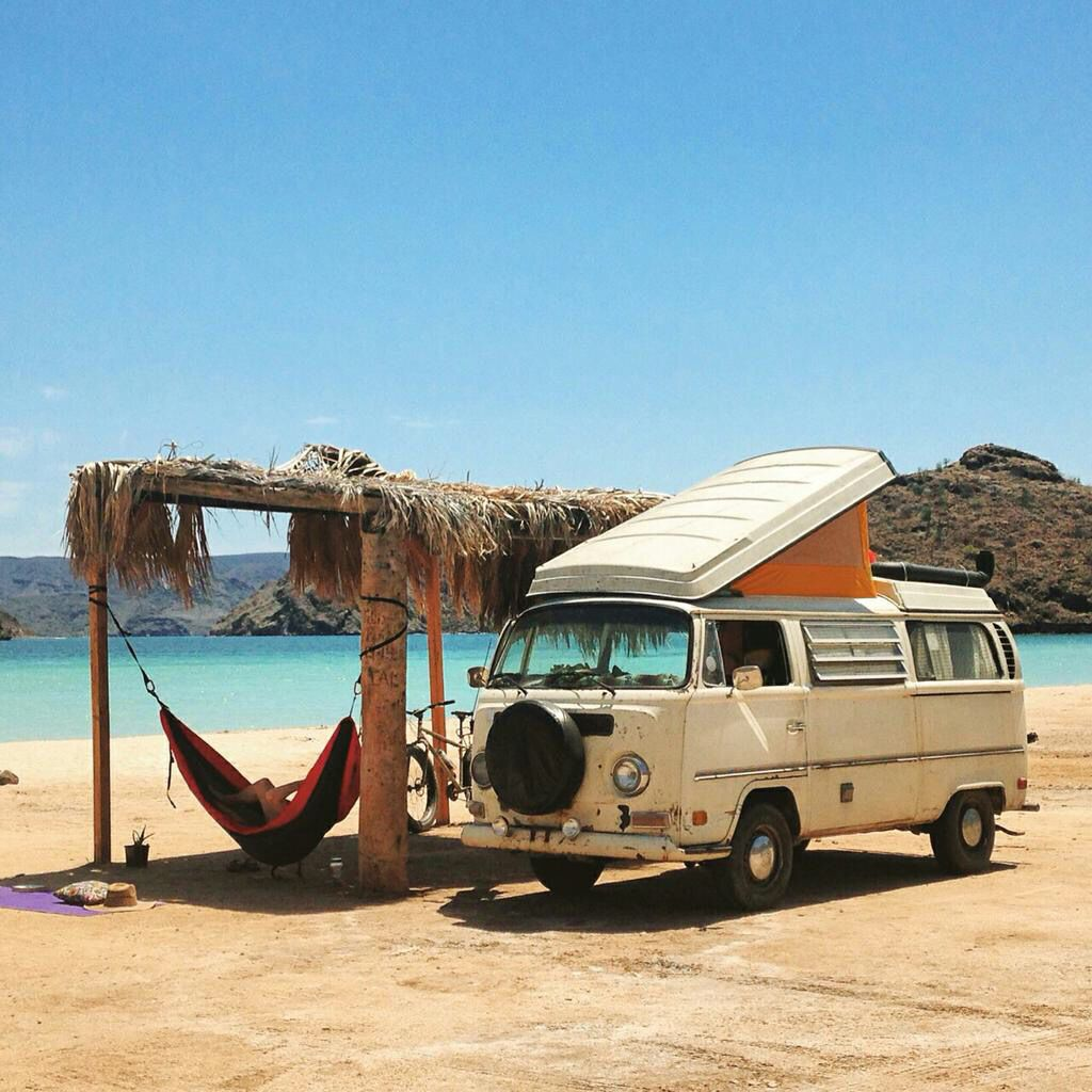 the beach beach camping vw style pinterest vw bus. Black Bedroom Furniture Sets. Home Design Ideas