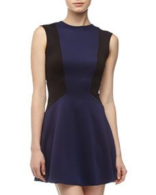 Casual Couture Colorblock Fit-And-Flare Dress, Navy/Black Compare to:$158.00 Price: $69.00 50% Off:$34.50