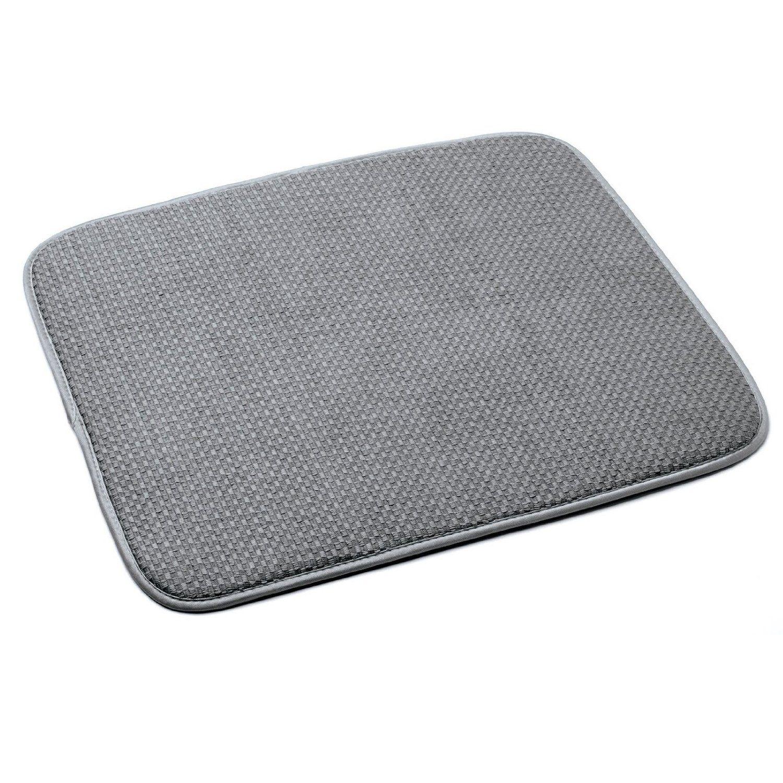 Amazon Com Norpro 16 By 18 Inch Microfiber Dish Drying Mat Gray Kitchen Counter Mats Kitchen Dining Dish Drying Mat Norpro Microfiber