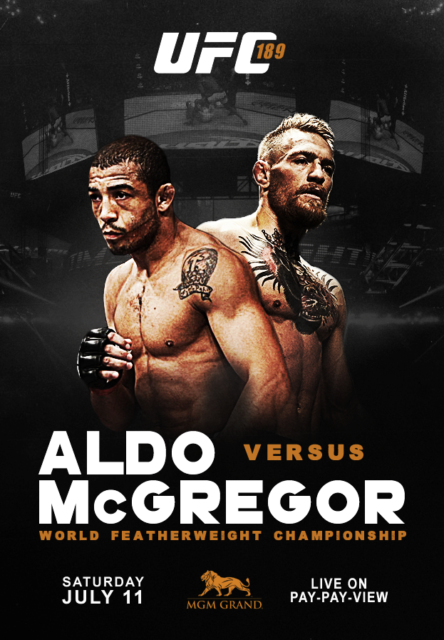 Ufc 189 Poster Im Stoked For This Fight Ufc Poster Ufc Ufc 189