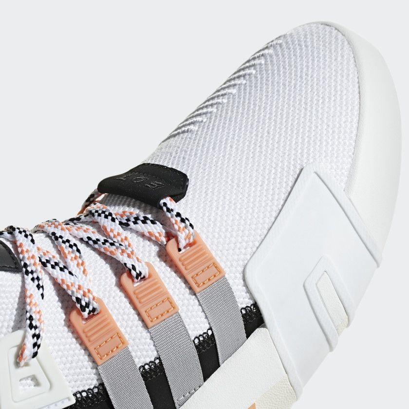 EQT Bask ADV Shoes Ftwr White Grey Two Easy Orange F33853