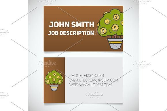 Business card print template Vector Creative Business Card