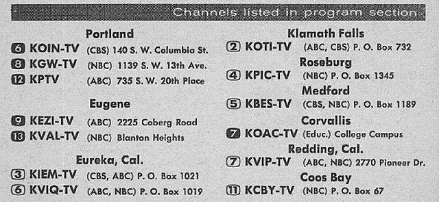 Oregon Edition July 29 1961 Tv Guide Old Tv Me Tv