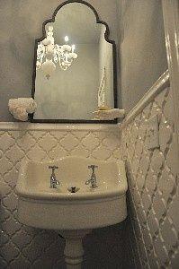 Beveled Arabesque Tile Ivory Coast