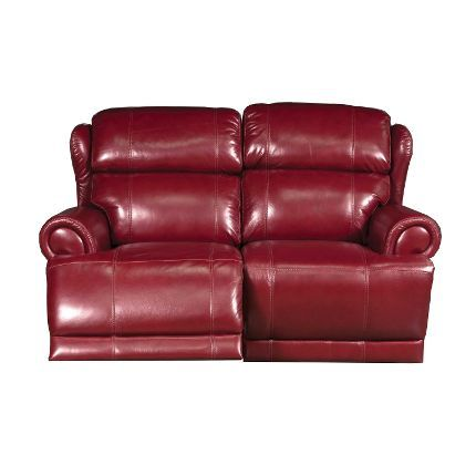 Sensational 64 Inch Burgundy Leather Power Reclining Loveseat Leather Pdpeps Interior Chair Design Pdpepsorg