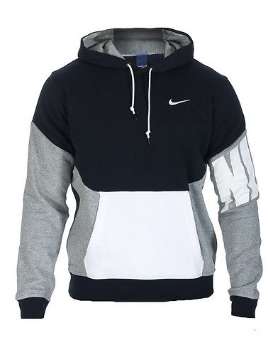NIKE Pullover hoodie Long sleeves Adjustable drawstring on hood NIKE swoosh  logo on chest Front kang