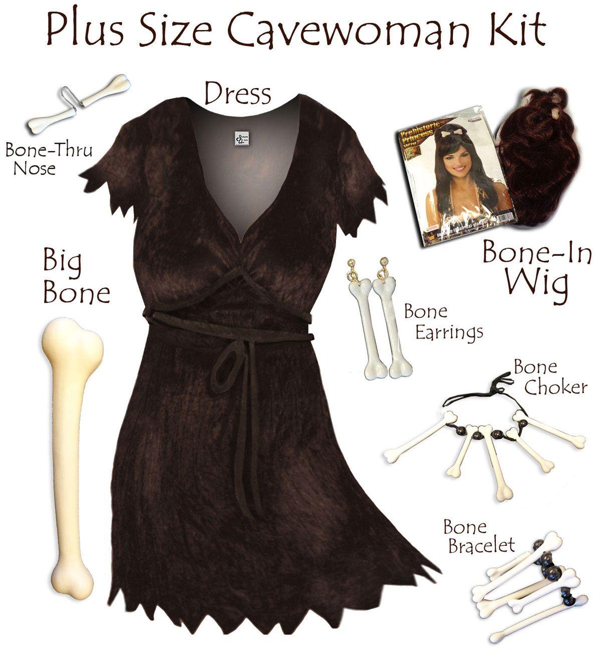 Plus Size Cave Woman Costume Plus Size & Supersize