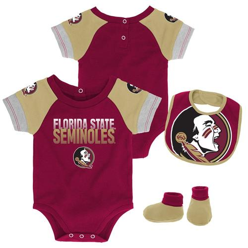 Florida Stata University FSU Seminoles Sports Shoe Footed Baby Romper