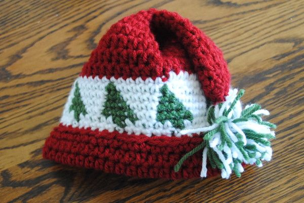Free Christmas Hat Crochet Pattern Trees Go Round Baby Toddler