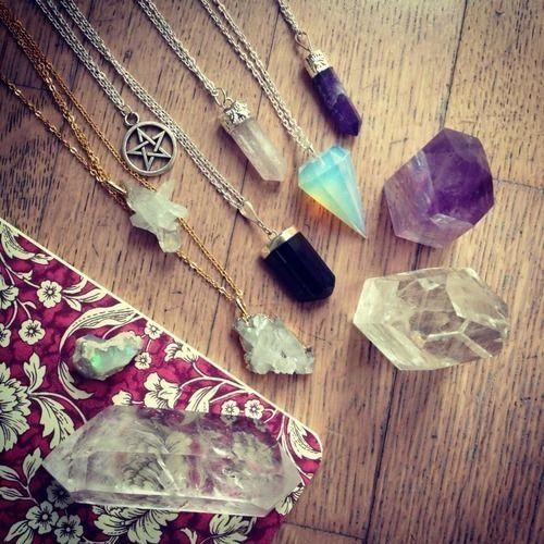 Bohemian Style Rose Quartz Necklace Hipster Style Gemstone Necklace Gypsy Style Crystal for Love