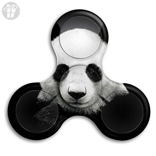 Lovely Panda Fidget Hand Tri Spinner EDC Toy Fingertip Gyro For Kids Black GL
