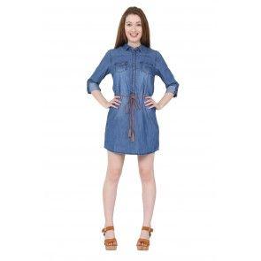 03147acdc60 Denim Shirt Dress. cute