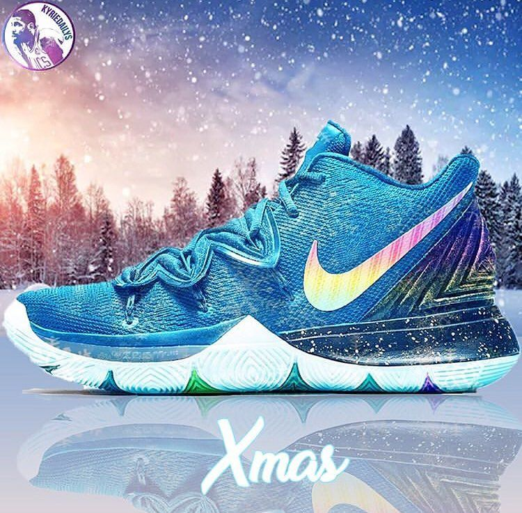 22f3dc973f1 Christmas Kyrie 5's!🔥😍 @kyriedailys #kyrie5 | Nike shoes in 2019 ...