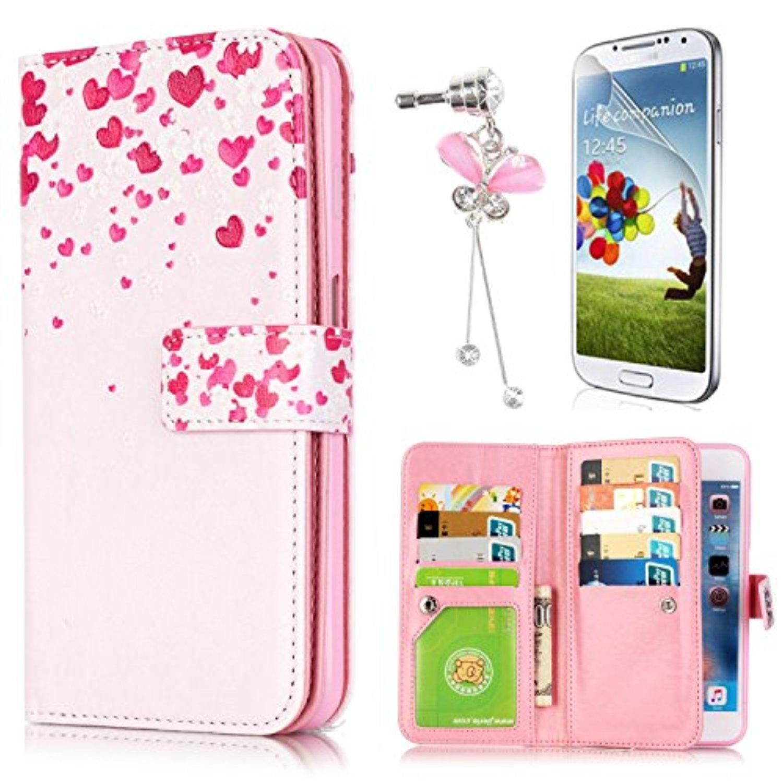 LG K7 Case, Sunroyal 9 Card Slot PU Leather Wallet Magnetic Case 2 ...