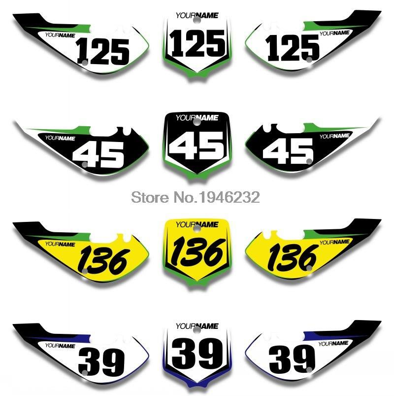 Custom Number Plate Backgrounds Sticker Decals Graphics For
