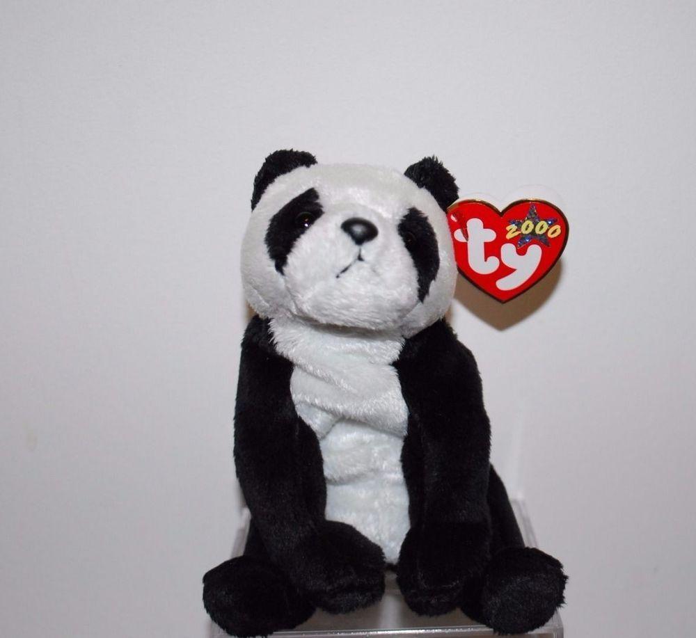 ty beanie babies baby China Stuffed Plush Panda Bear Retired ... 52a28b3ce42