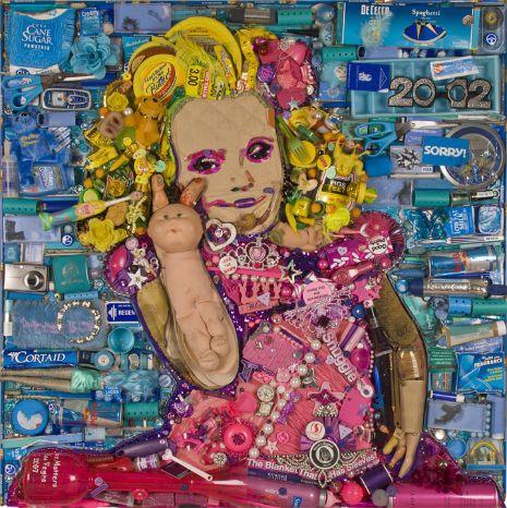 Honey Boo Boo Trash Honey Boo Boo Portrait Made From Trash Her Trash Trash Art Honey Boo Boo Art
