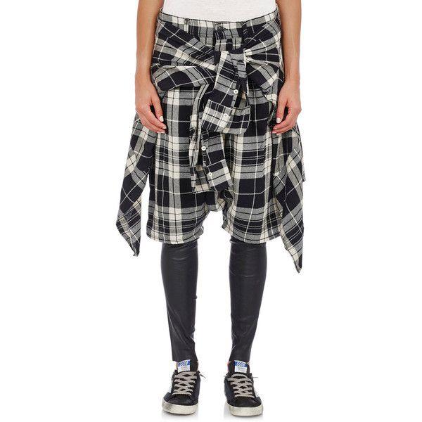 R13 Vedder Shorts & Leggings (2.795 NOK) ❤ liked on Polyvore featuring pants, leggings, multi, thermal leggings, tartan plaid leggings, plaid pants, black and white pants and tartan leggings