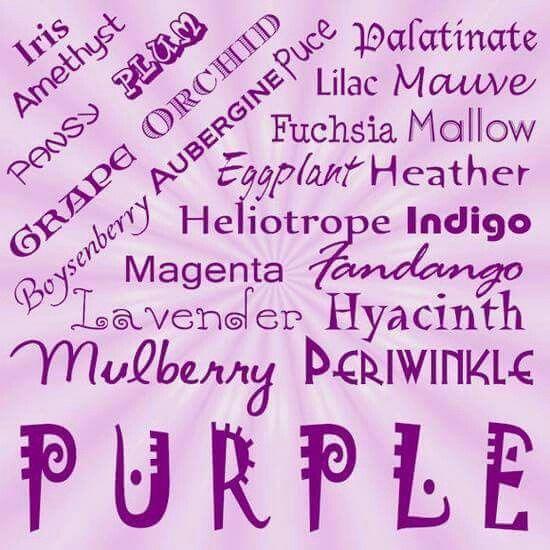 les diff rentes nuances de violet iris am thiste. Black Bedroom Furniture Sets. Home Design Ideas