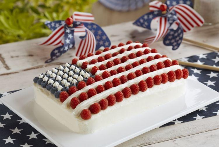 All American Berry Flag Cake Recipe Flag Cake Berries Recipes American Flag Cake Recipe