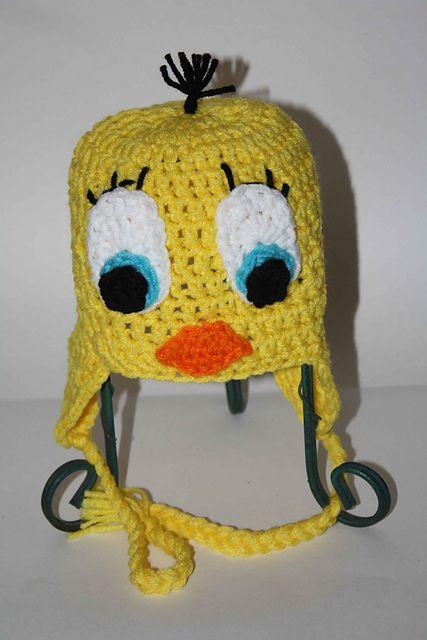 Ravelry: Tweety Bird Hat pattern by Two Girls Boutique | Crochet ...