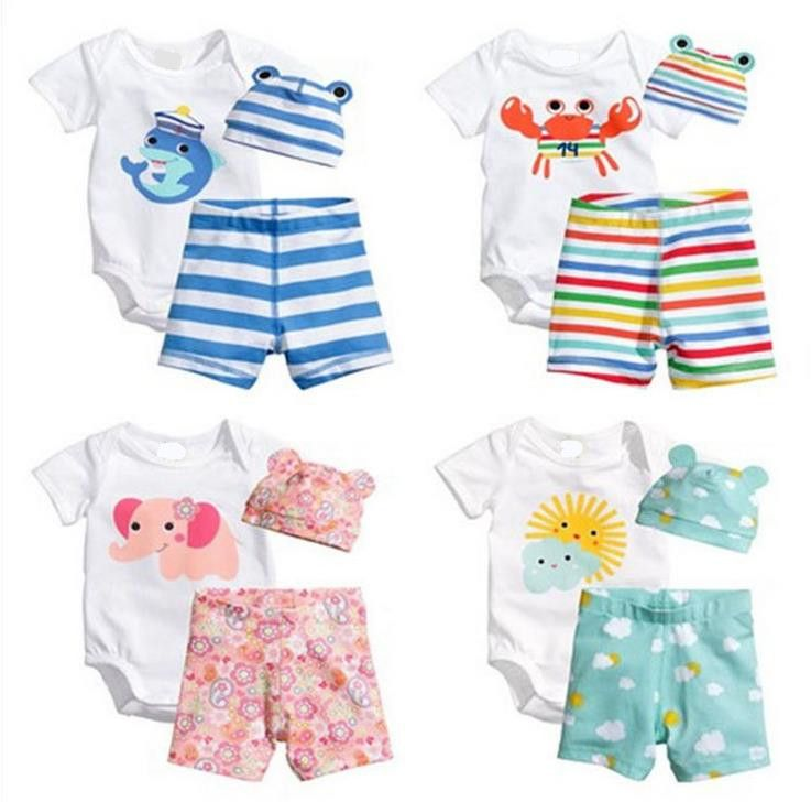 a2e37b265911 Click to Buy    3PCS Cartoon Baby Clothing Set Cotton Newborn Baby ...