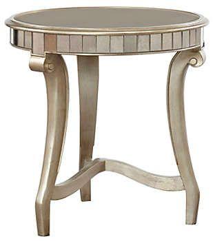 Celine Round End Table Art Van Furniture End Tables Table Art Table
