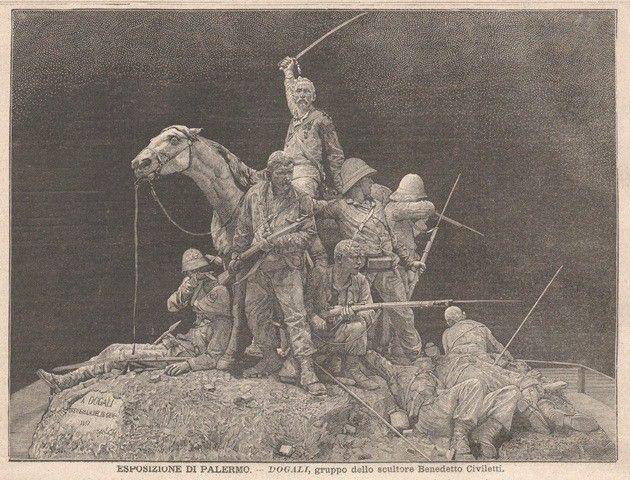 Esposizione di Palermo - Dogali, gruppo dello scultore Benedetto Civiletti nell'edizione del 1892