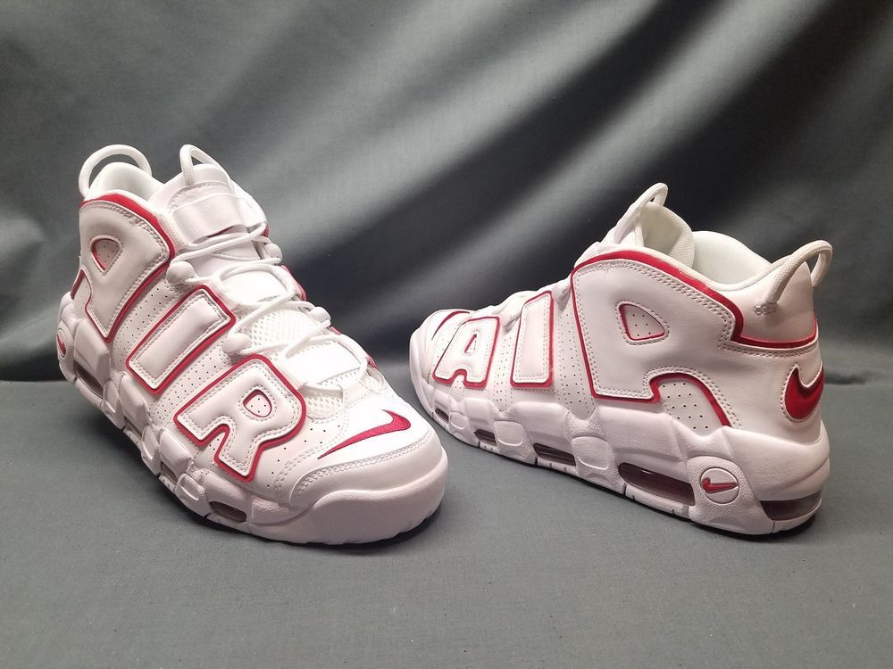 b742a266a5c25 Nike Men's Air More Uptempo '96 Basketball Sneakers White Size 10 ...