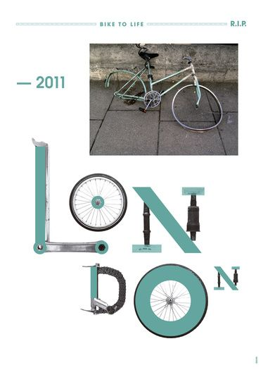 bike to life london poster by toormix