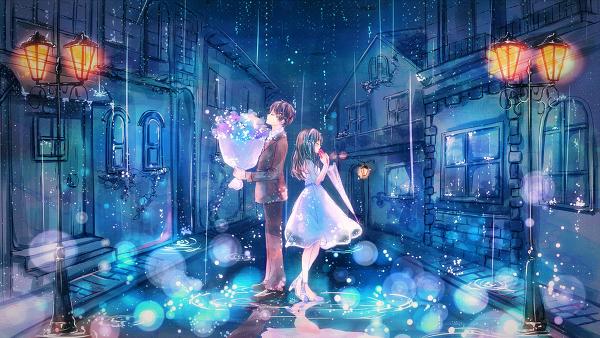 レイニー・レイディ Anime scenery, Anime city, Anime galaxy