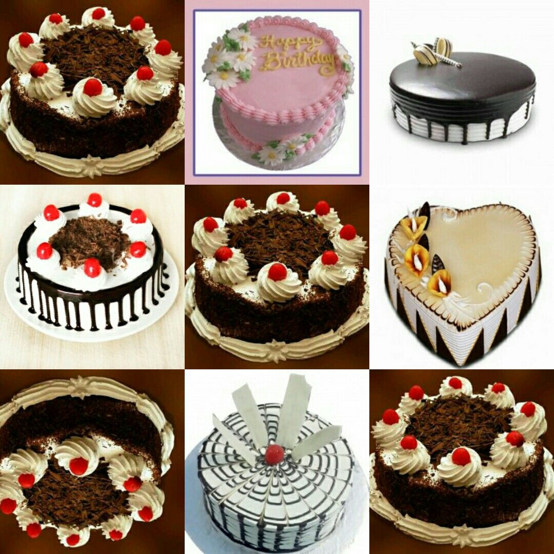Birthday cake collage which provide the variety on flavours