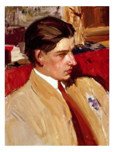 'Self Portrait in Profile' Giclee Print - Joaquín Sorolla y Bastida | Art.com