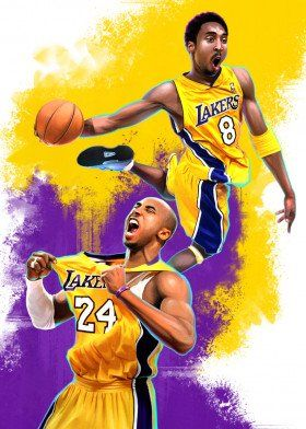 Kobe Bryant Accolades Sport Poster Print metal posters