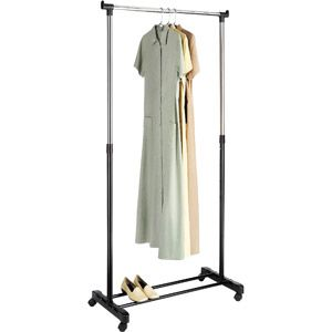 Walmart Clothes Hanger Rack Delectable Whitmor Adjustable Garment Rack Chromeblackwalmart $15  92 Inspiration