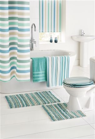 Super Buy Teal Stripe Giant Loop Bath Mat From The Next Uk Online Short Links Chair Design For Home Short Linksinfo