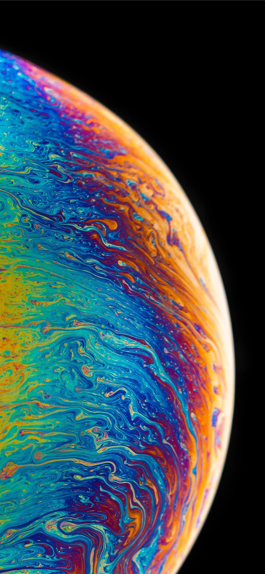 multicolored fluid painting iPhone 11 Wallpapers in