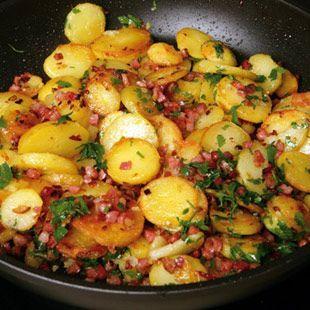 Bratkartoffeln aus Pellkartoffeln Rezept